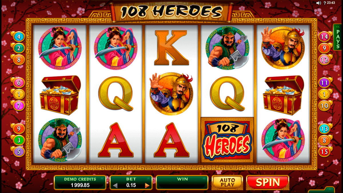 108 heroes microgaming casino slot spel