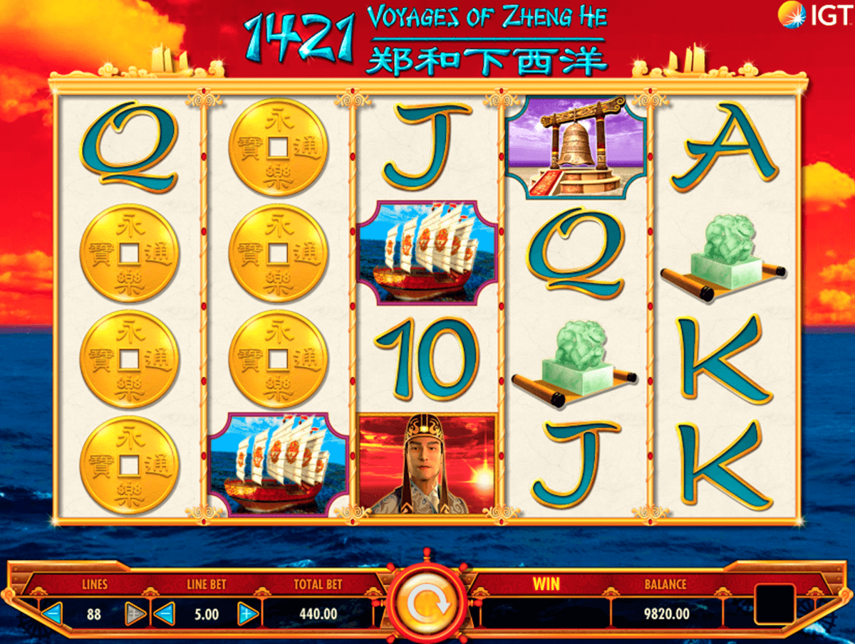 1421 voyages of zheng he igt casino slot spel