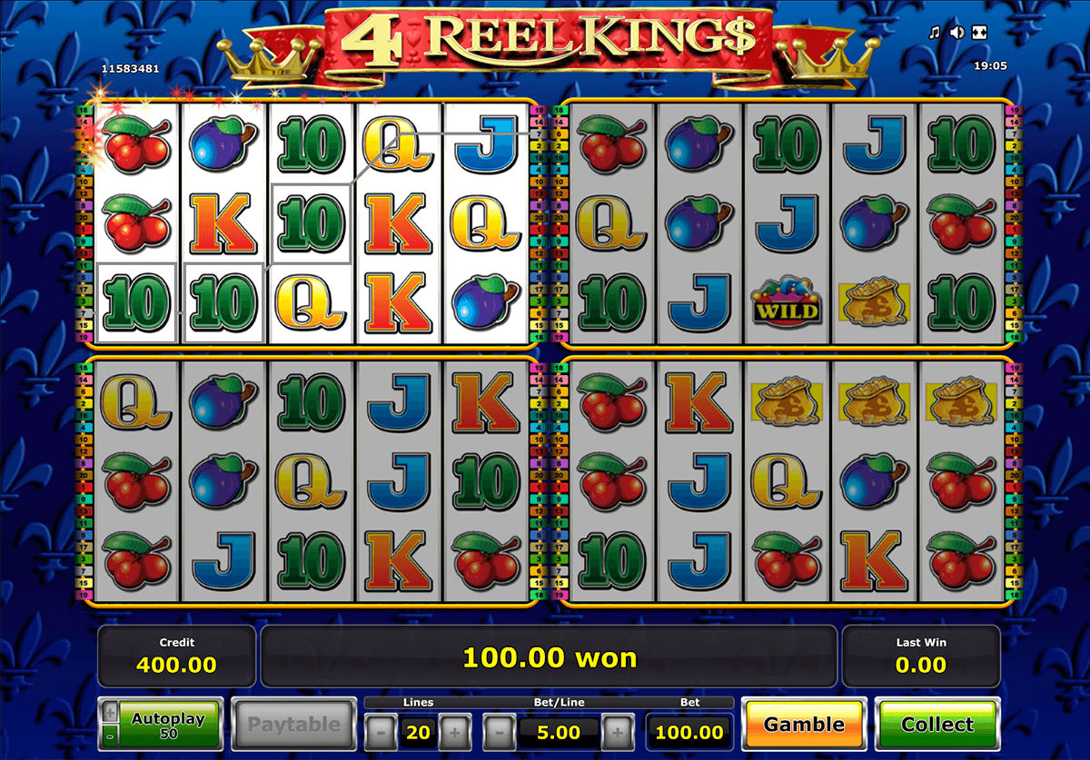 4 reel kings novomatic casino slot spel
