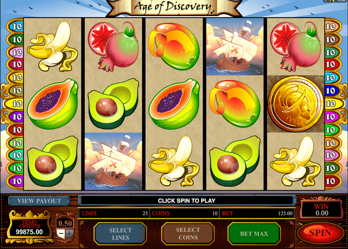 age of discovery microgaming casino slot spel