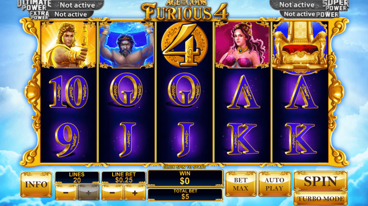 age of the gods furious 4 playtech casino slot spel