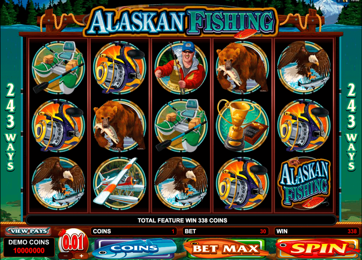 alaskan fishing microgaming casino slot spel