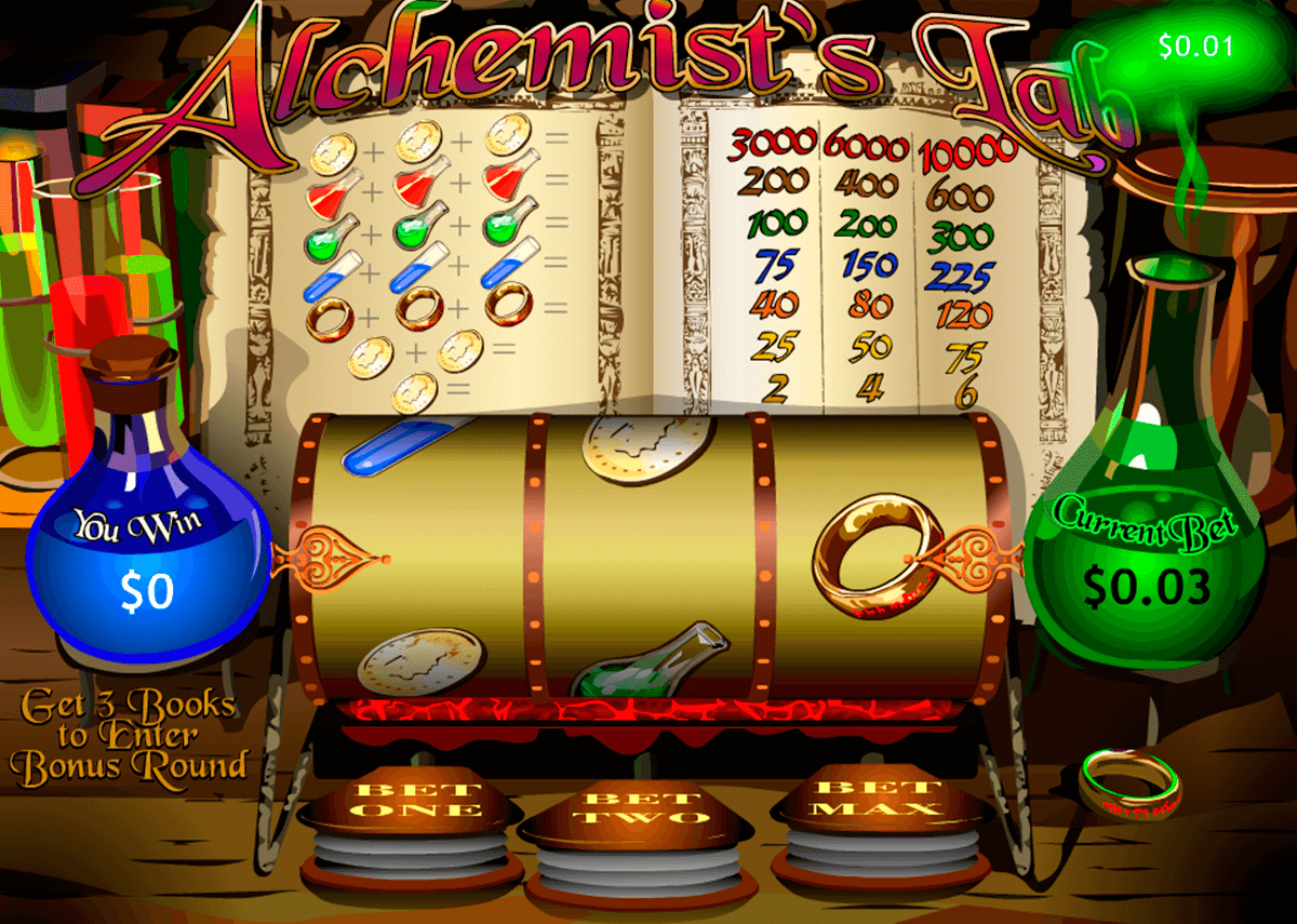 alchemists lab playtech casino slot spel