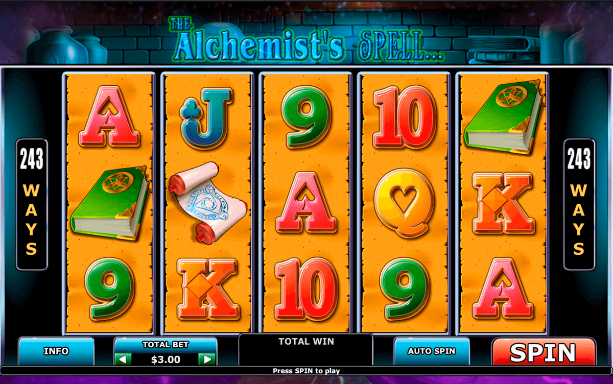 alchemists spell playtech casino slot spel