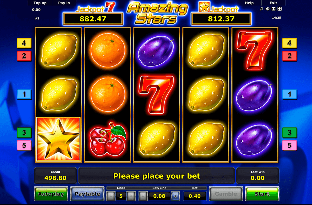 amazing stars novomatic casino slot spel