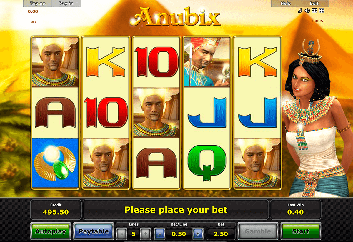 anubix novomatic casino slot spel