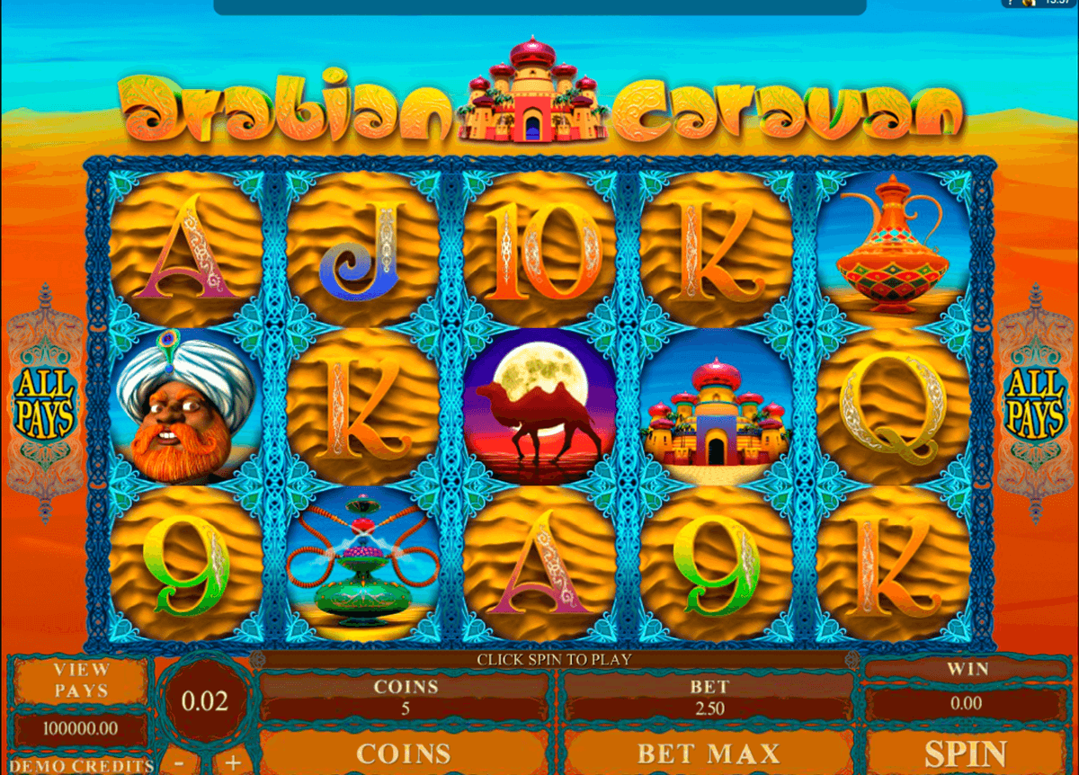 arabian caravan microgaming casino slot spel