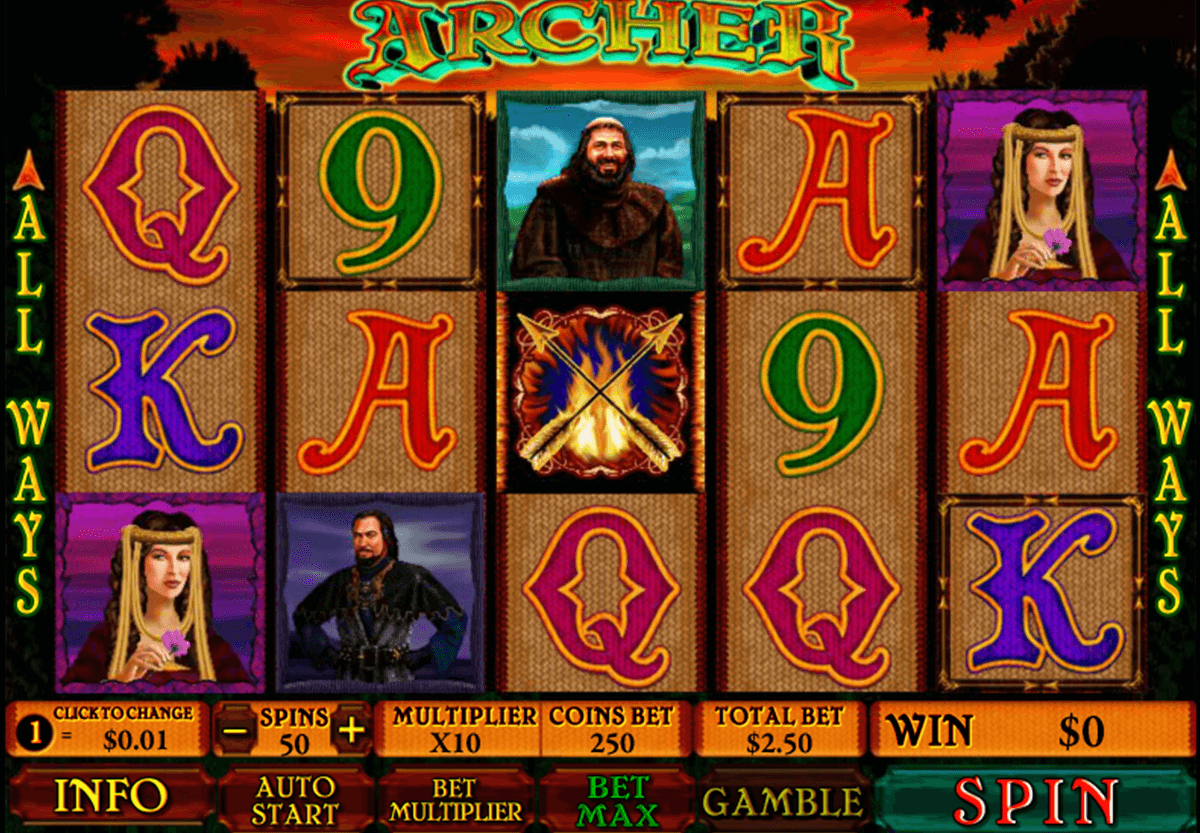 archer playtech casino slot spel