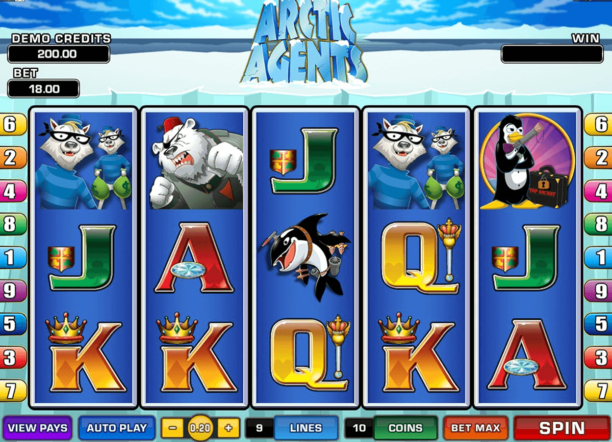 arctic agents microgaming casino slot spel