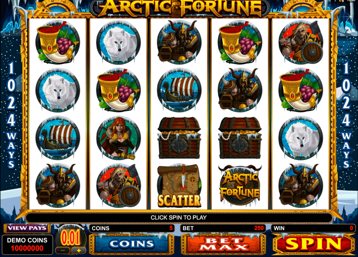arctic fortune microgaming casino slot spel