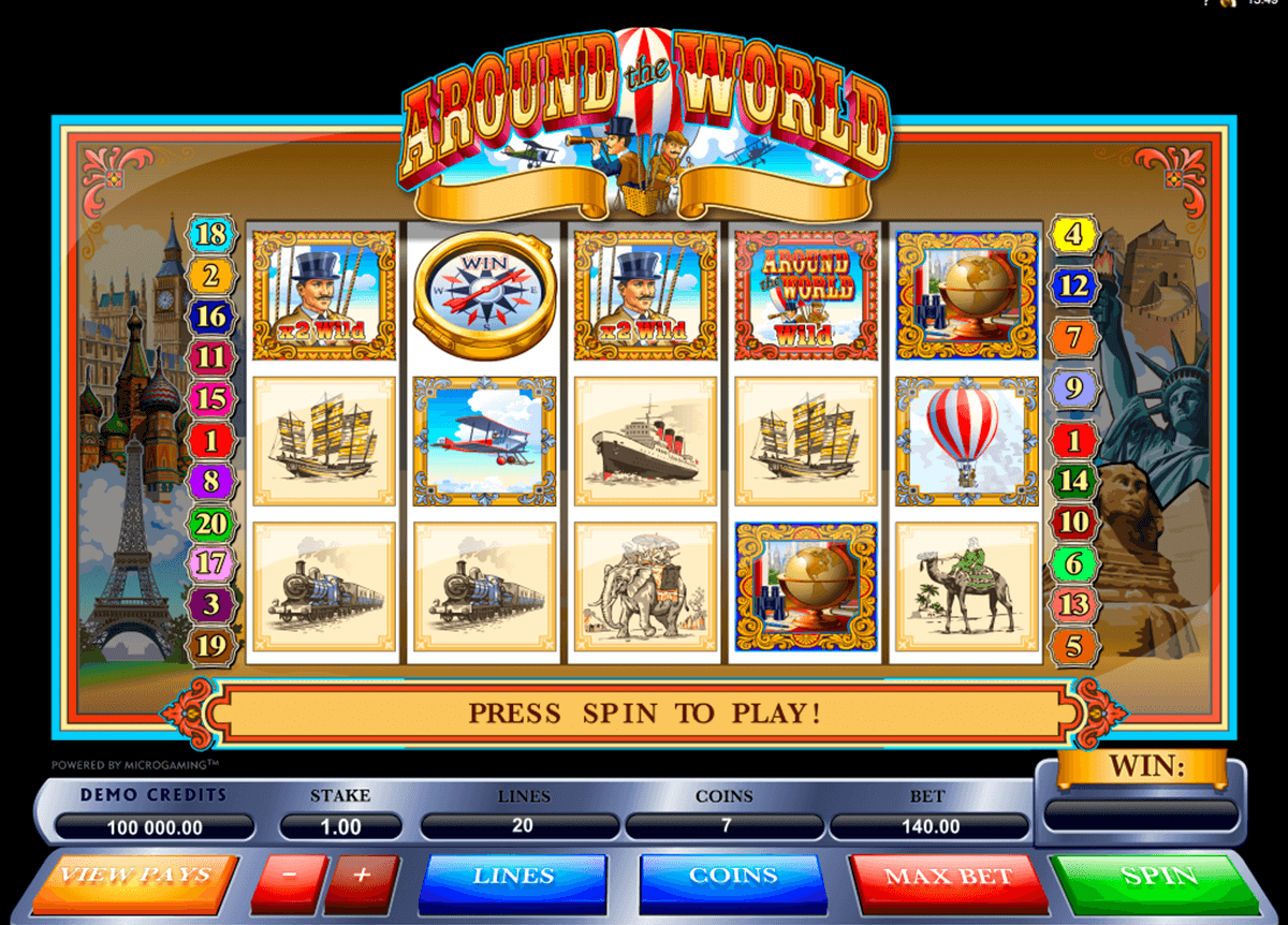 around the world microgaming casino slot spel