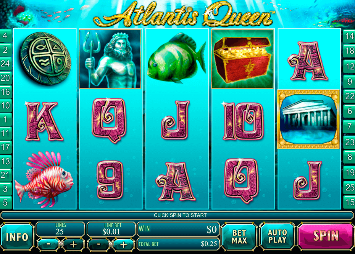 atlantis queen playtech casino slot spel