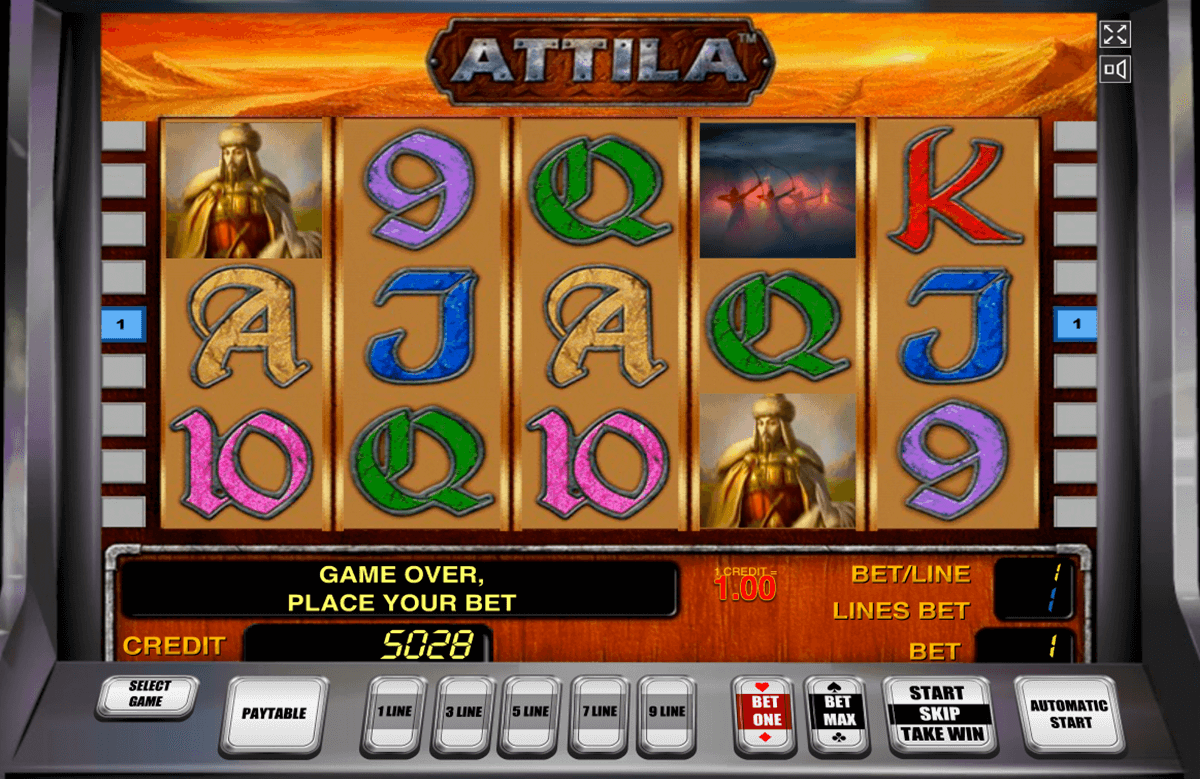 attila novomatic casino slot spel