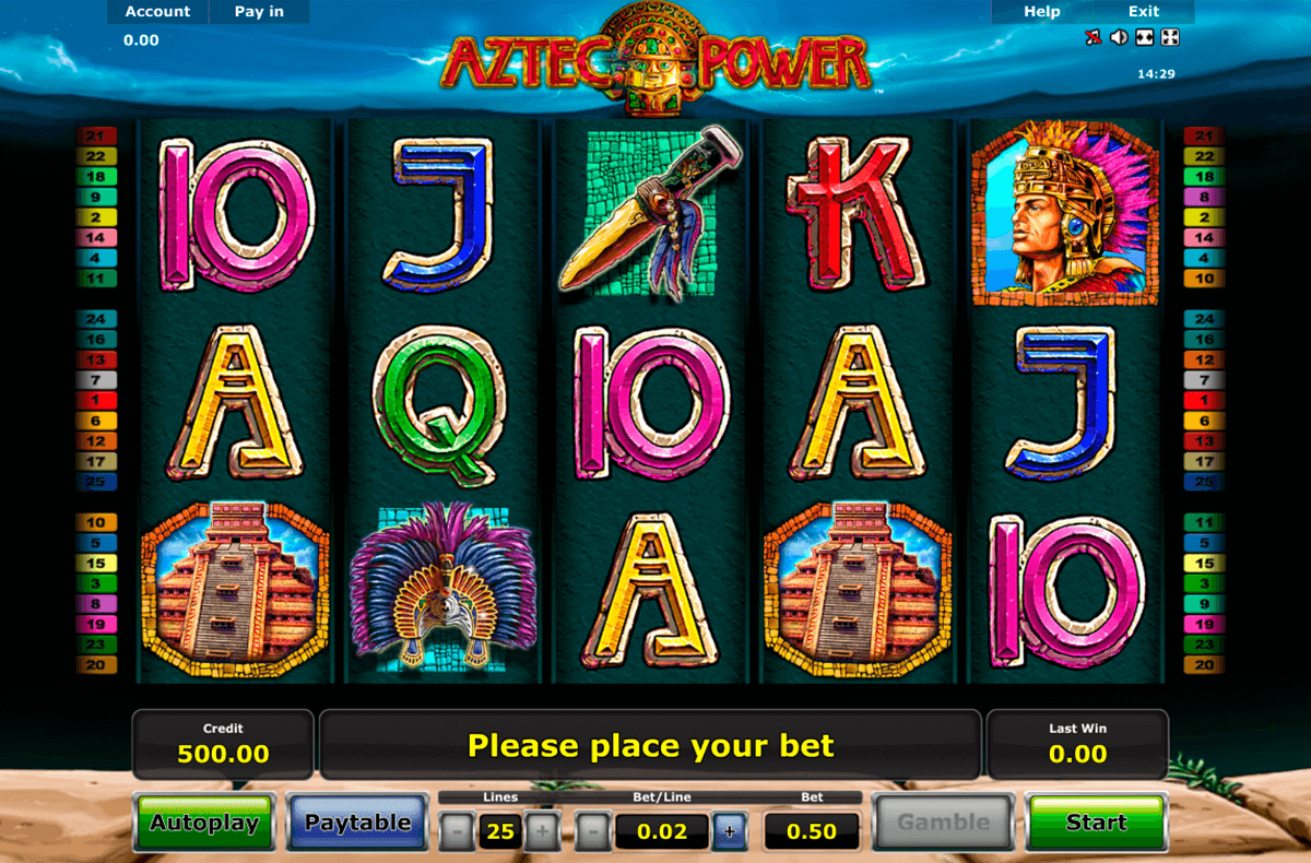 aztec power novomatic casino slot spel