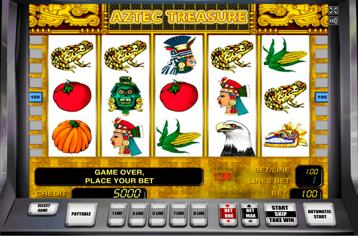 aztec treasure novomatic casino slot spel