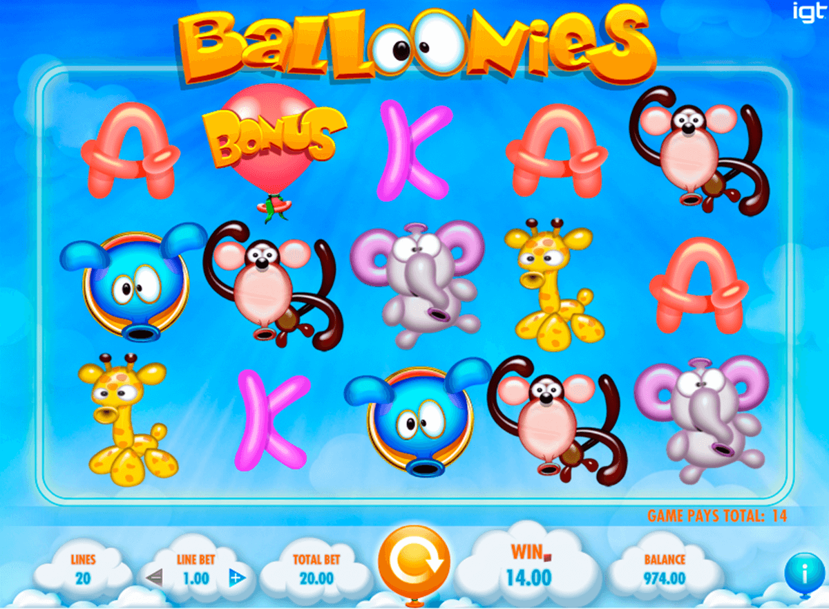 balloonies igt casino slot spel