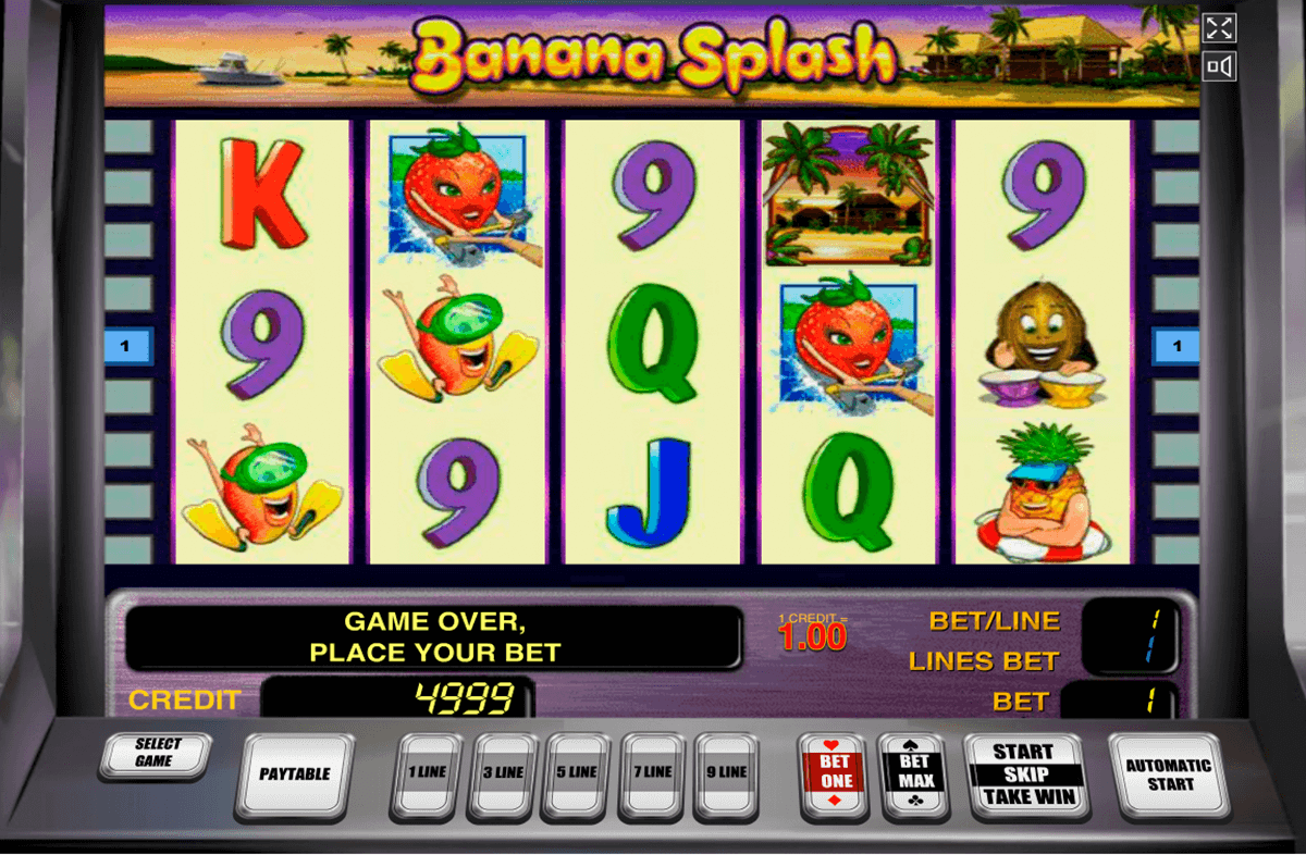 banana splash novomatic casino slot spel