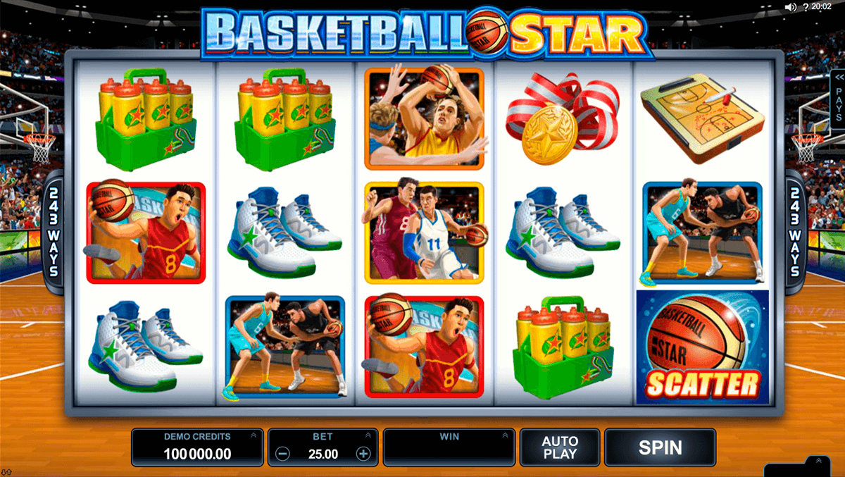 basketball star microgaming casino slot spel