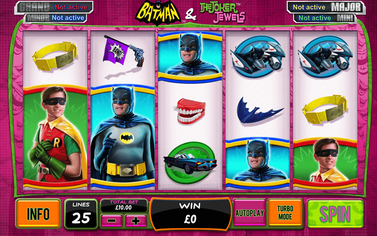 batman the joker jewels playtech casino slot spel