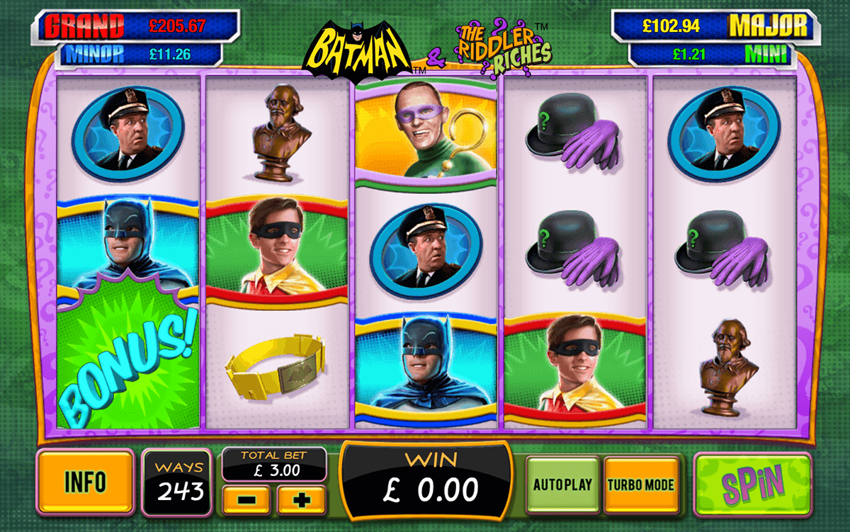 Batman & The Riddler Riches Slots - Play Online for Free