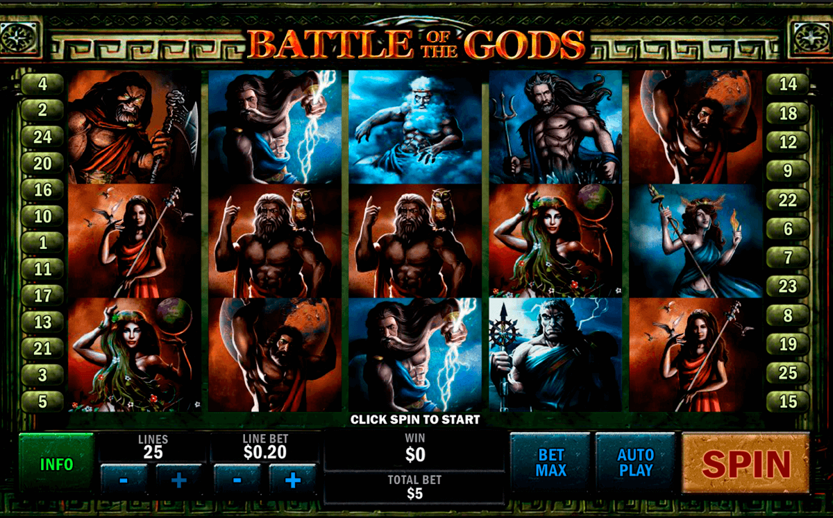 battle of the gods playtech casino slot spel