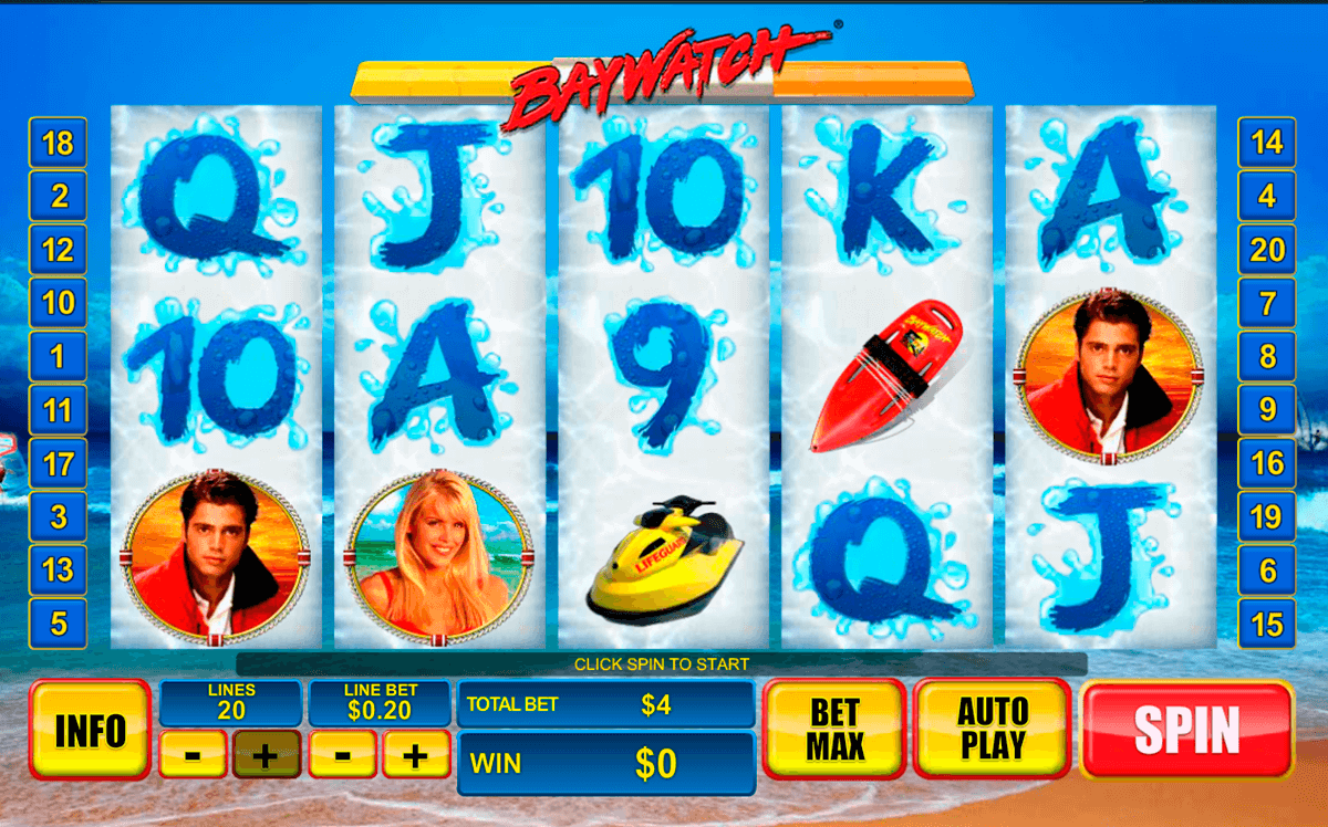 baywatch playtech casino slot spel