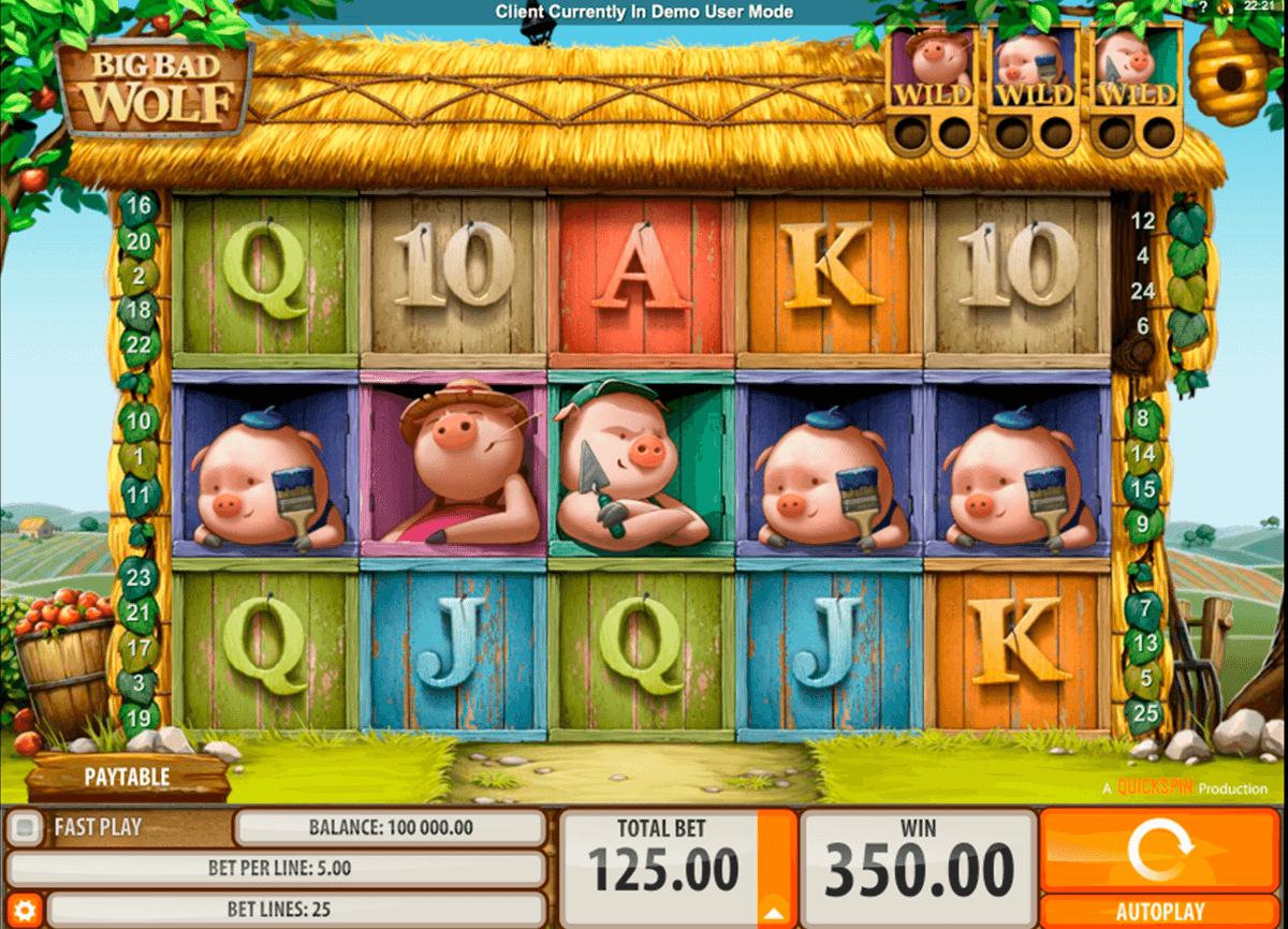 big bad wolf quickspin casino slot spel