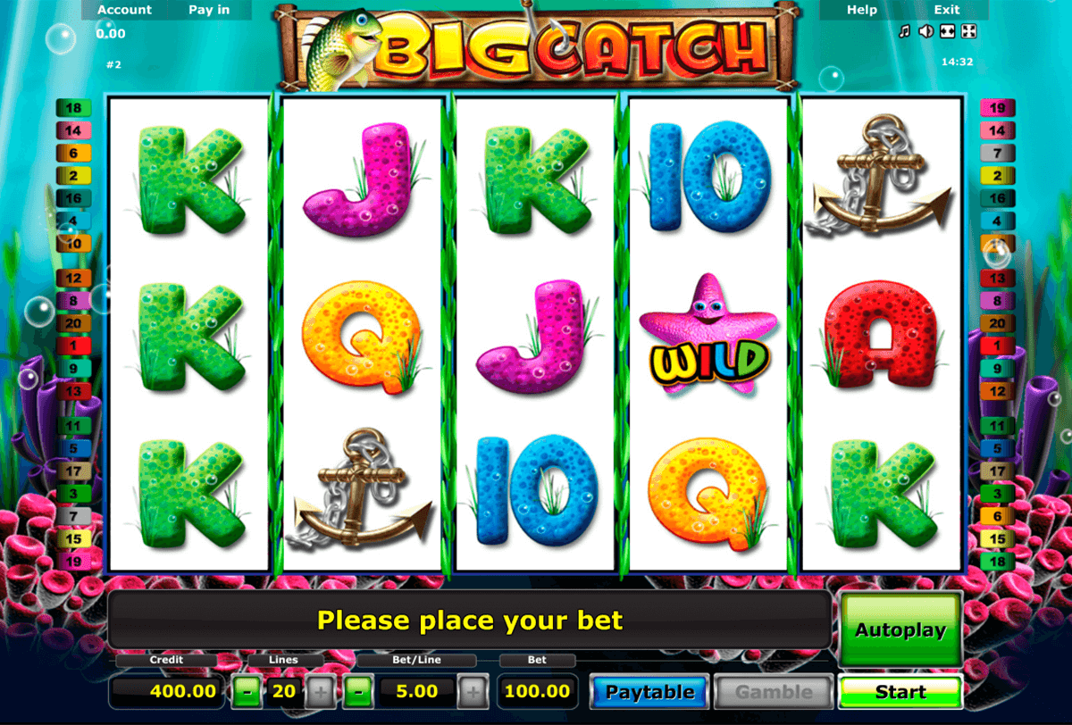 big catch novomatic casino slot spel