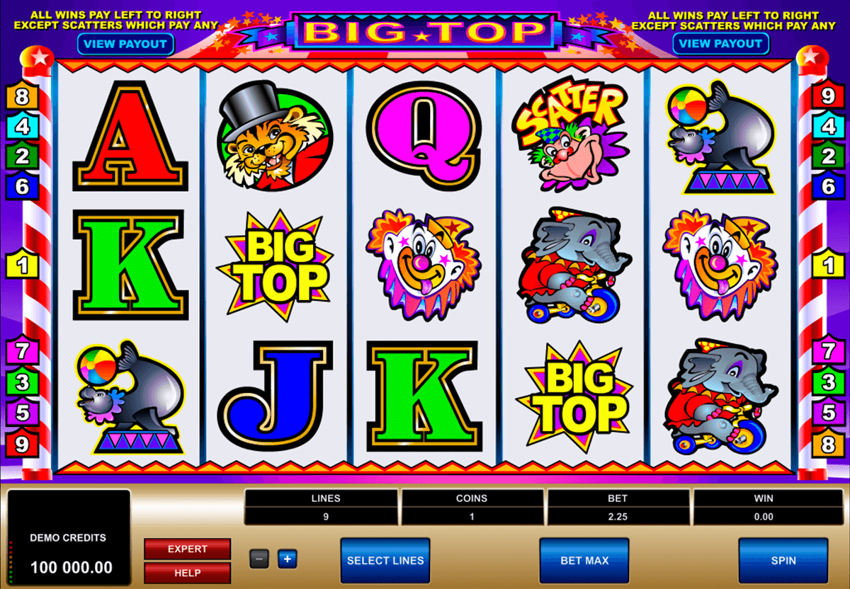 big top microgaming casino slot spel