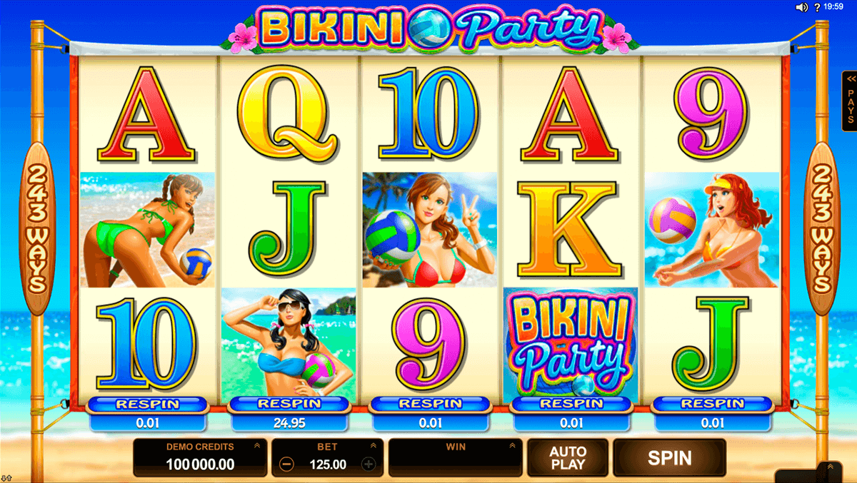 bikini party microgaming casino slot spel