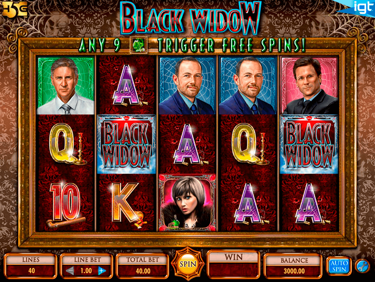 black widow igt casino slot spel