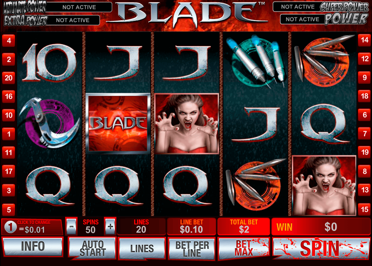 blade playtech casino slot spel