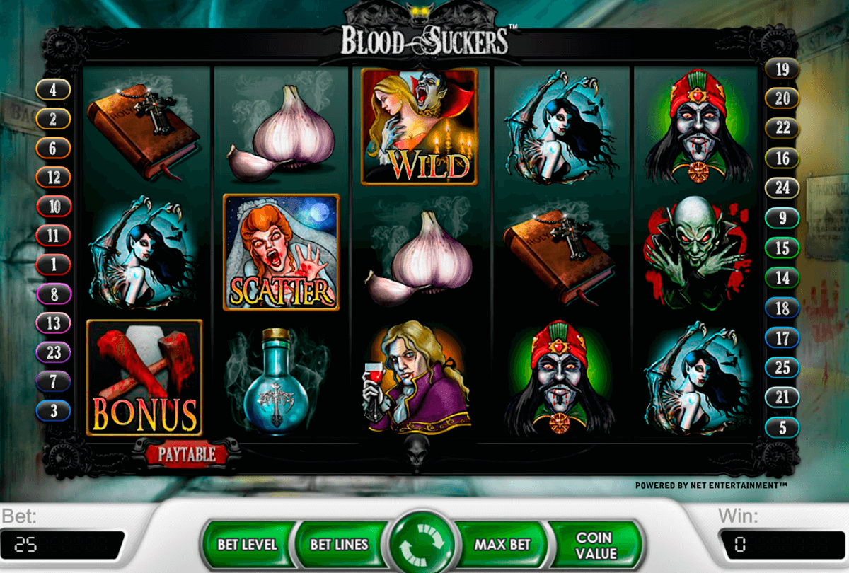 blood suckers netent casino slot spel