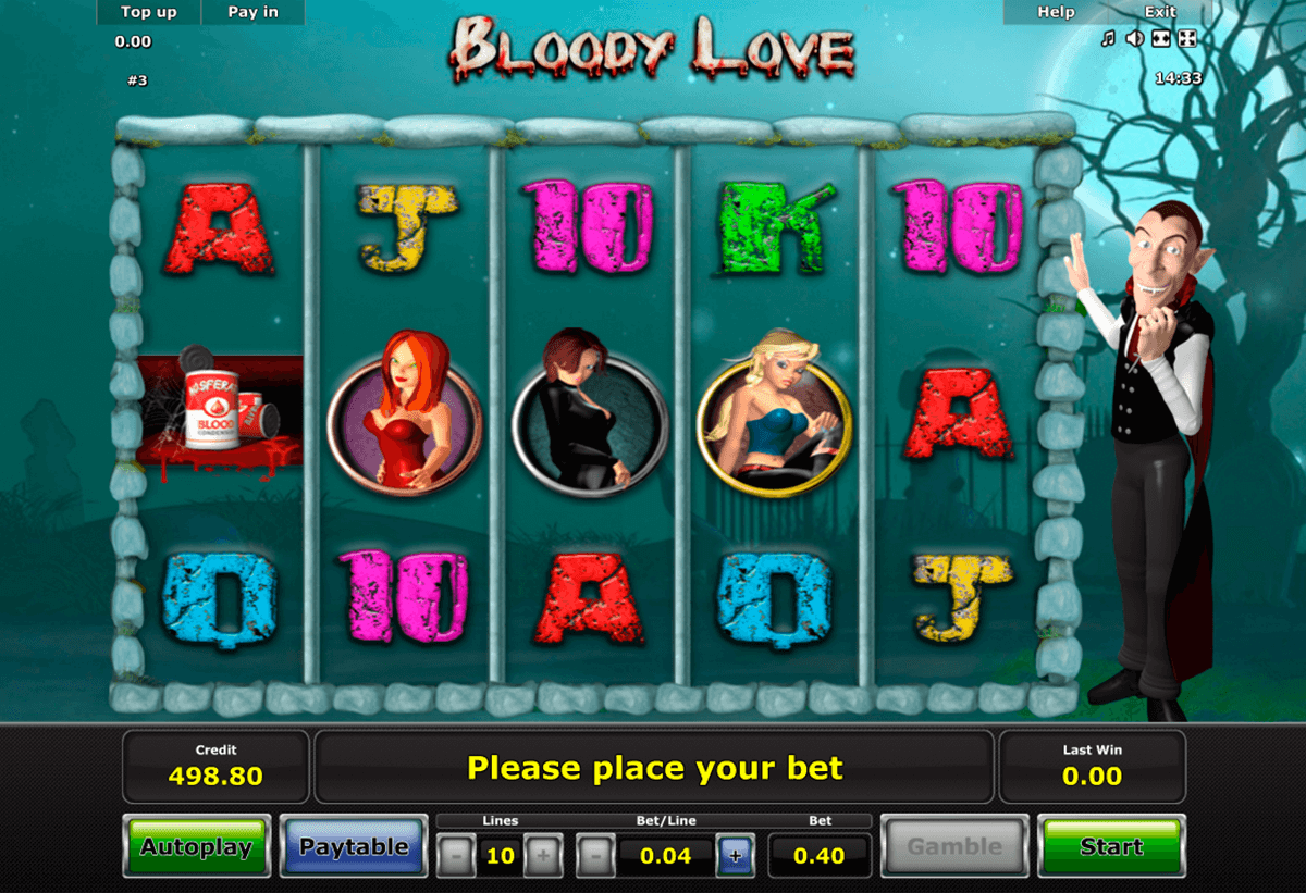 bloody love novomatic casino slot spel