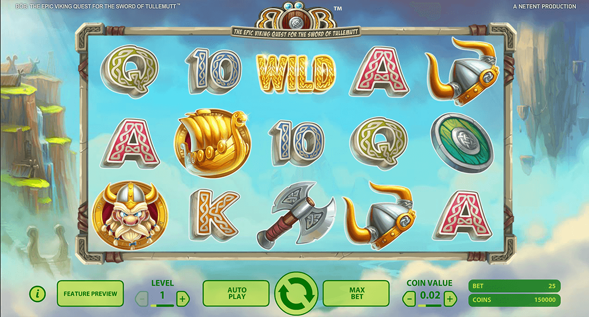 bob the epic viking quest netent casino slot spel