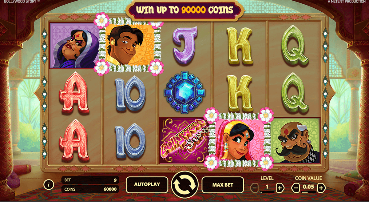 bollywood story netent casino slot spel