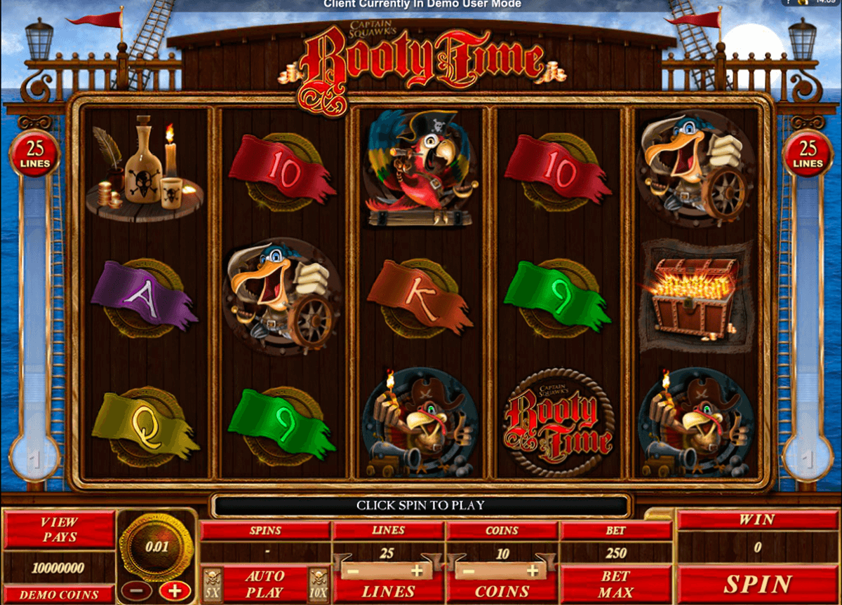 booty time microgaming casino slot spel