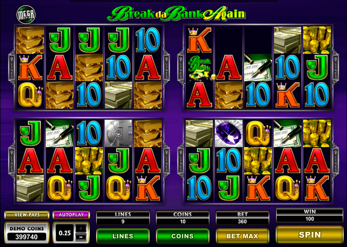 break da bank again megaspin microgaming casino slot spel