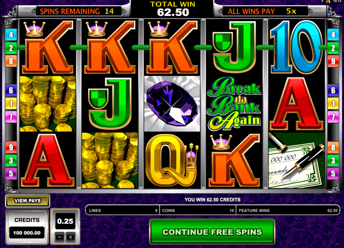 break da bank again microgaming casino slot spel