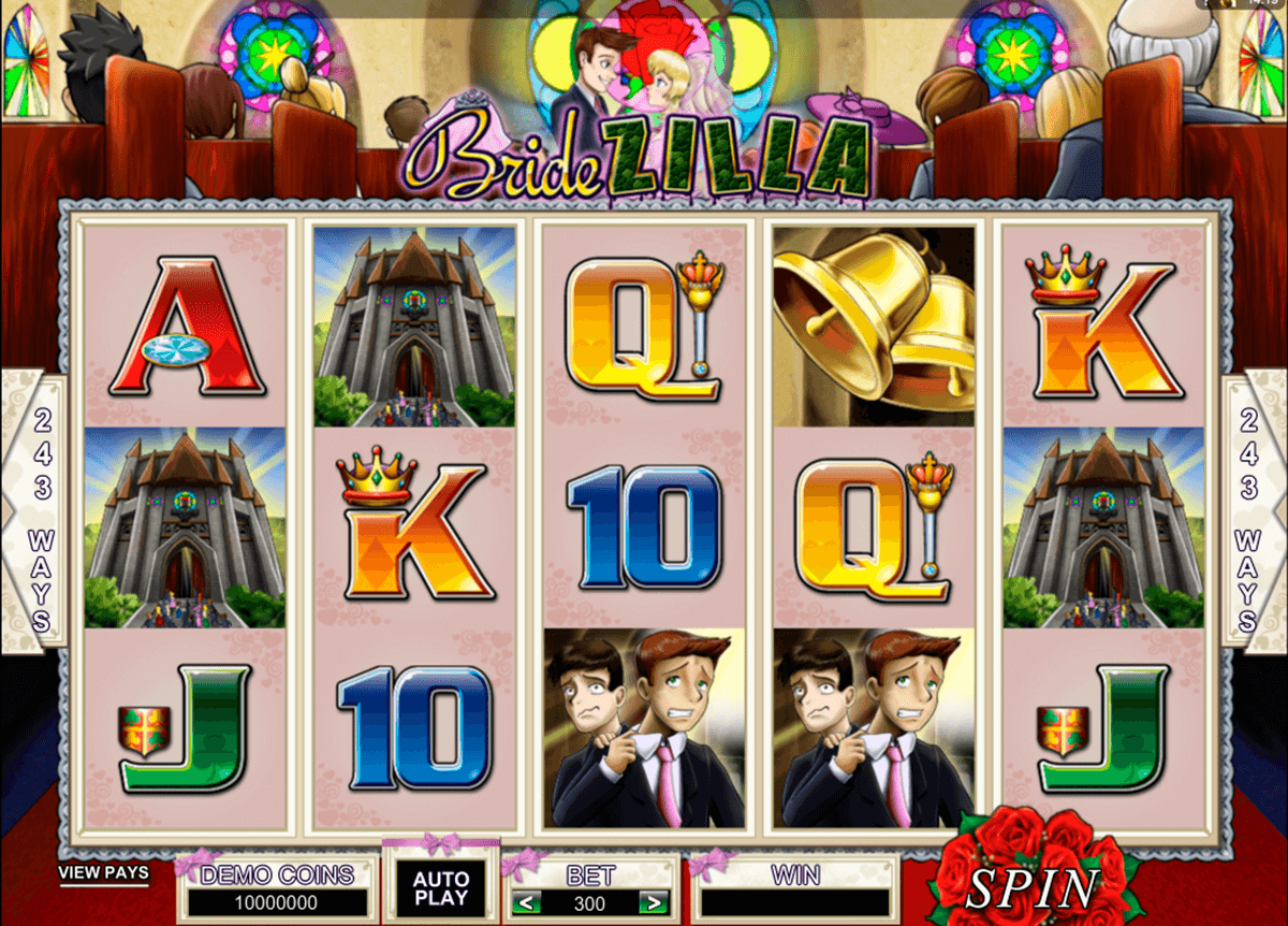bridezilla microgaming casino slot spel