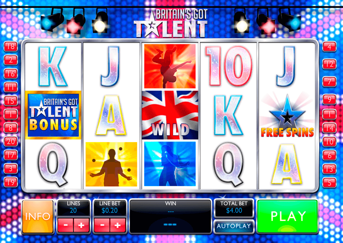 britains got talent playtech casino slot spel