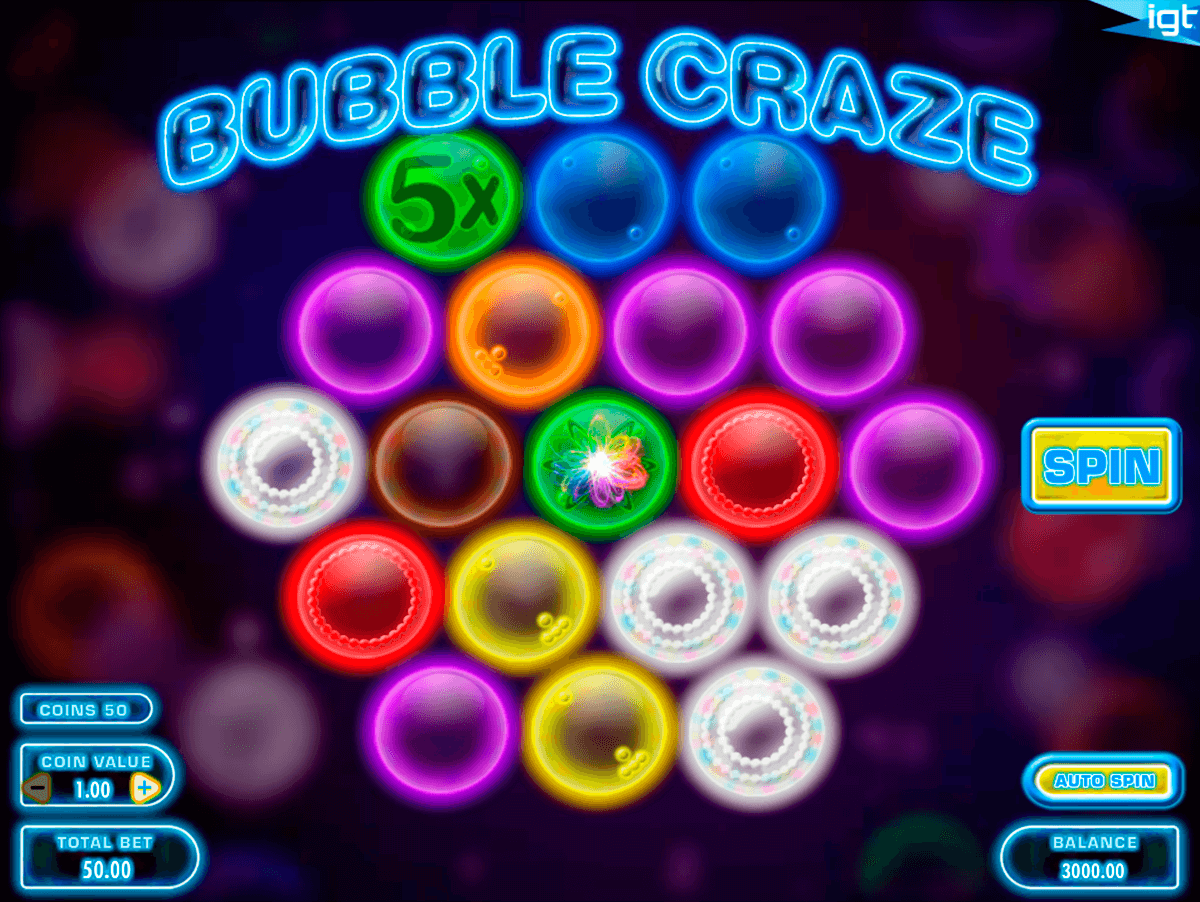 bubble craze igt casino slot spel