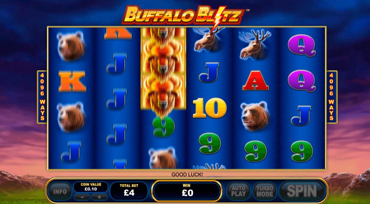 buffalo blitz playtech casino slot spel