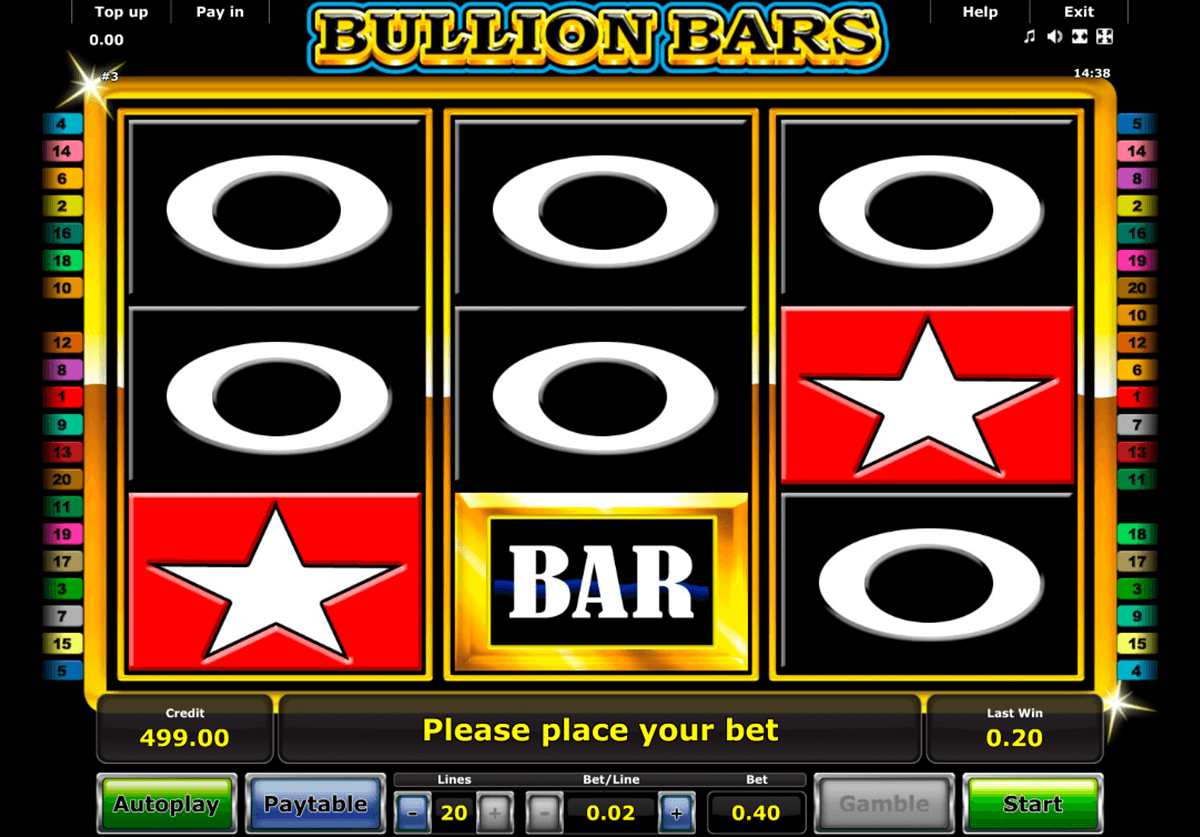 bullion bars novomatic casino slot spel