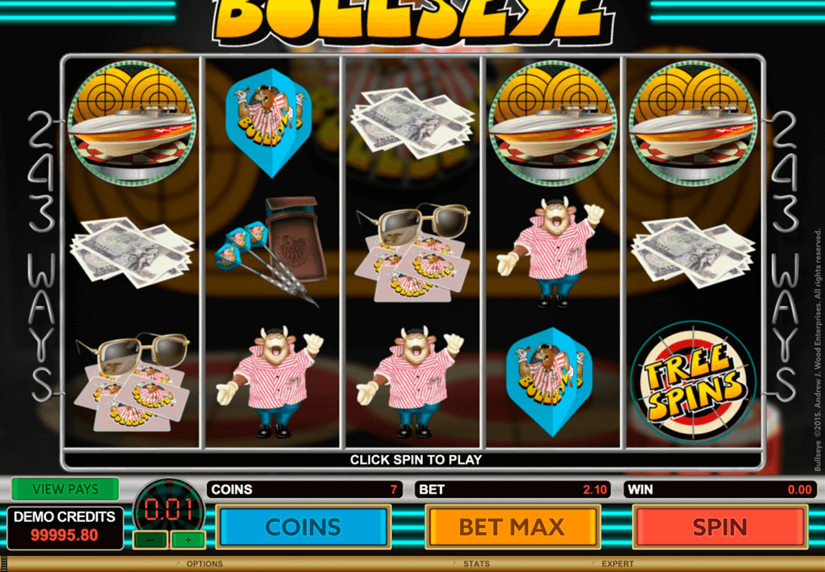 bullseye microgaming casino slot spel