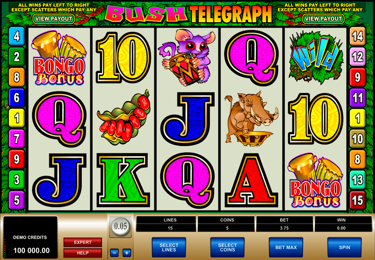 bush telegraph microgaming casino slot spel