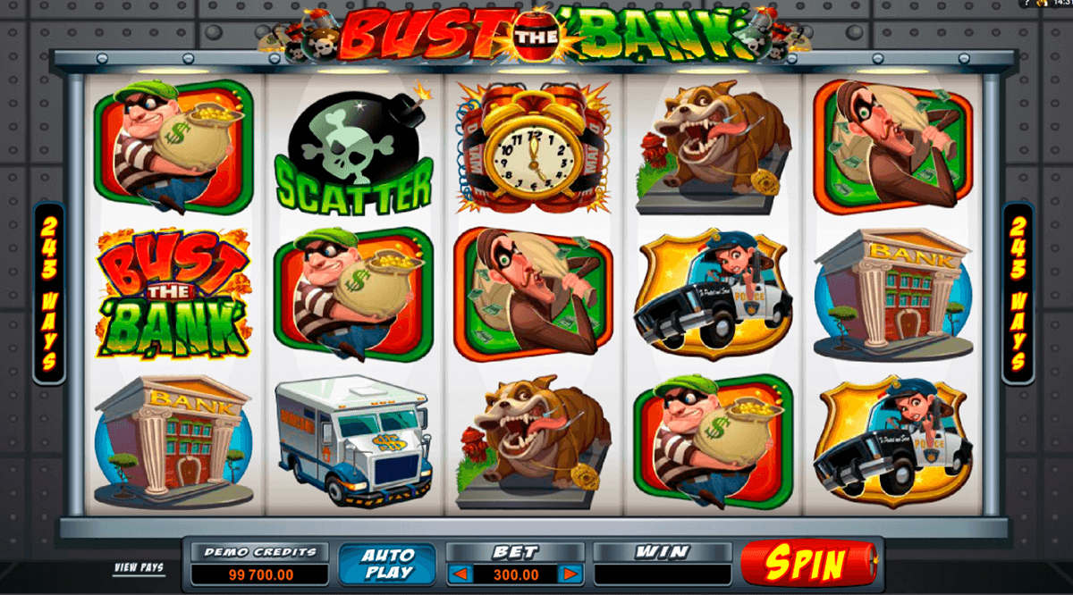 bust the bank microgaming casino slot spel