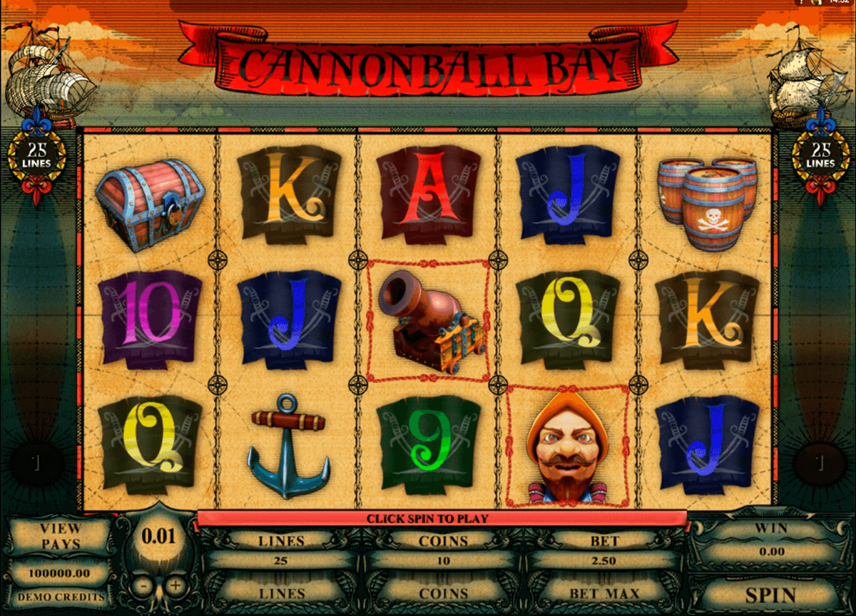 cannonball bay microgaming casino slot spel