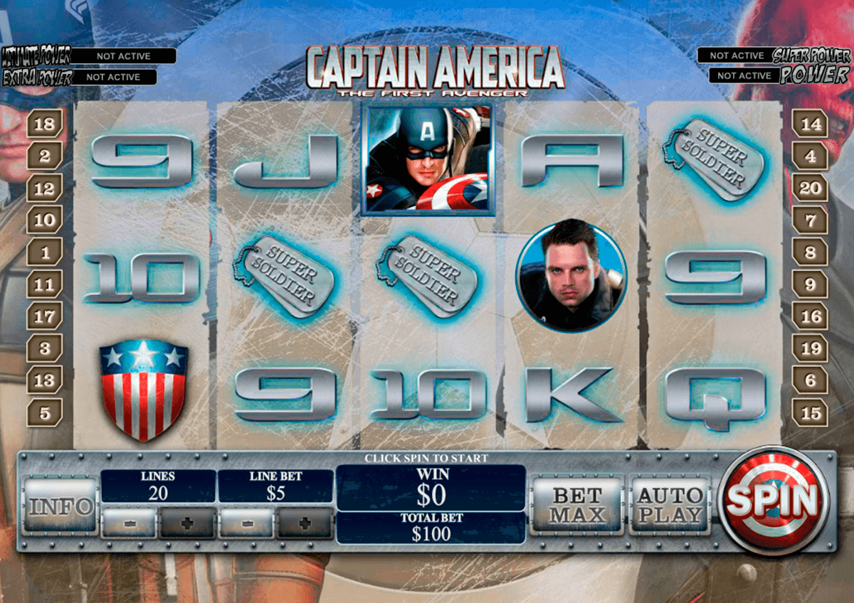 captain america playtech casino slot spel