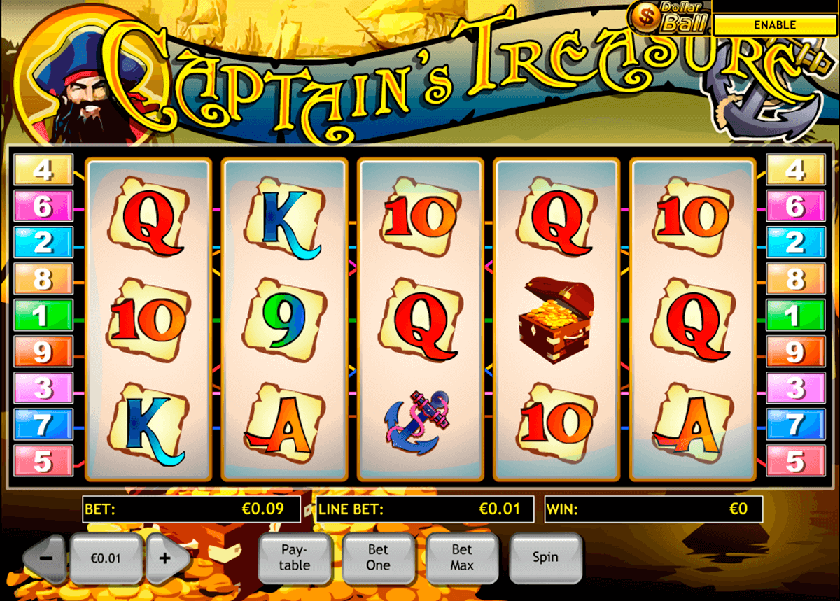 captains treasure playtech casino slot spel